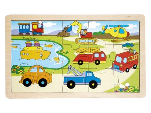 Top Bright puzzle drewniane - pojazdy 15 el. zdjęcie 3