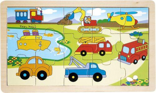 Top Bright puzzle drewniane - pojazdy 15 el. zdjęcie 1