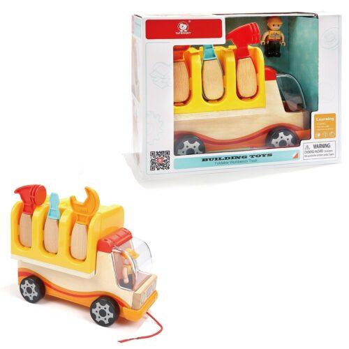 Top Bright drewniana ciężarówka - warsztat z narzędziami zdjęcie 25
