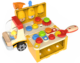 Top Bright drewniana ciężarówka - warsztat z narzędziami miniaturka 24