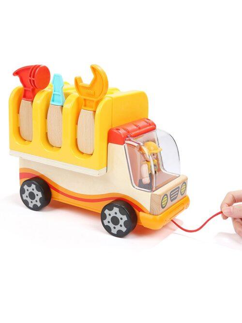 Top Bright drewniana ciężarówka - warsztat z narzędziami zdjęcie 23