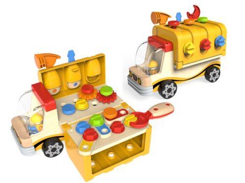 Top Bright drewniana ciężarówka - warsztat z narzędziami zdjęcie 20