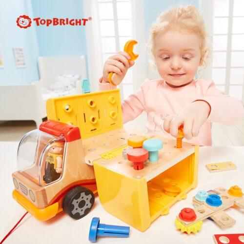 Top Bright drewniana ciężarówka - warsztat z narzędziami zdjęcie 18