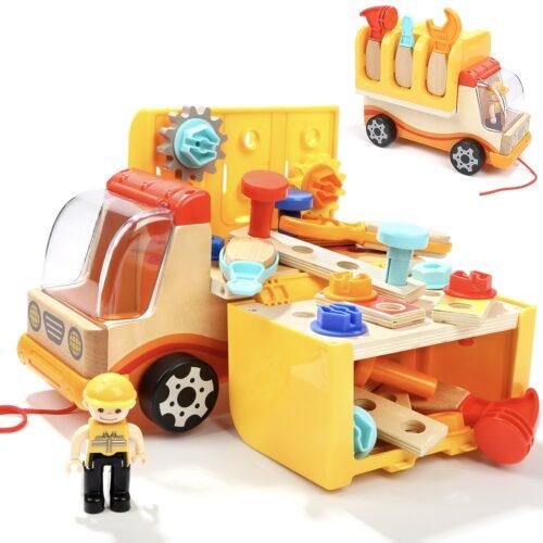 Top Bright drewniana ciężarówka - warsztat z narzędziami zdjęcie 17