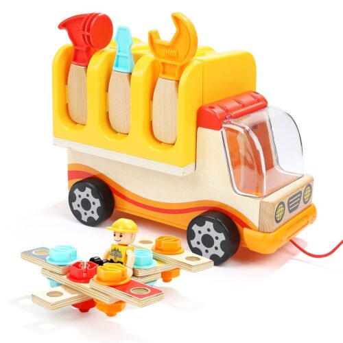 Top Bright drewniana ciężarówka - warsztat z narzędziami zdjęcie 16