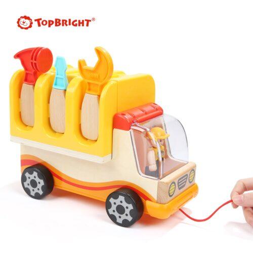 Top Bright drewniana ciężarówka - warsztat z narzędziami zdjęcie 15