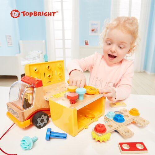 Top Bright drewniana ciężarówka - warsztat z narzędziami zdjęcie 14