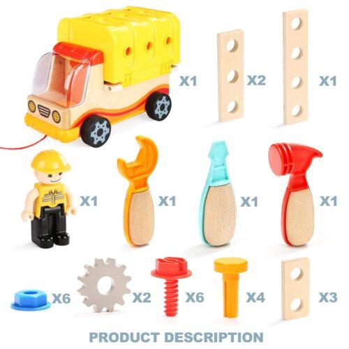 Top Bright drewniana ciężarówka - warsztat z narzędziami zdjęcie 13