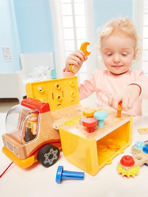 Top Bright drewniana ciężarówka - warsztat z narzędziami zdjęcie 1