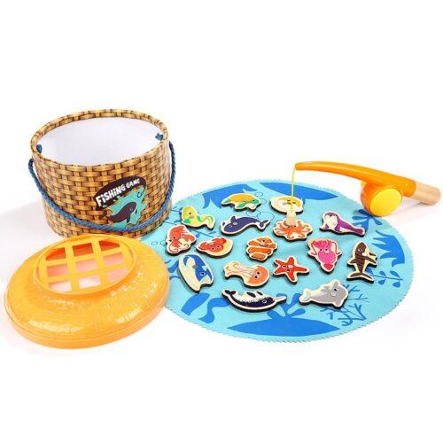 Top Bright gra łowienie rybek w wiklinowym pudełku 20 el. zdjęcie 9