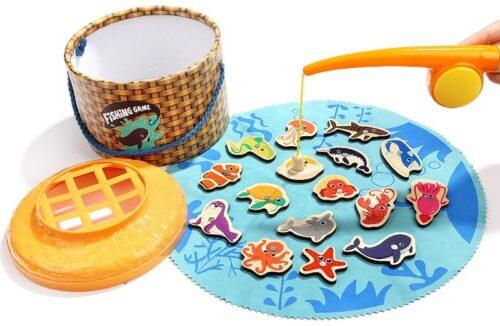 Top Bright gra łowienie rybek w wiklinowym pudełku 20 el. zdjęcie 1