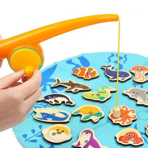 Top Bright gra łowienie rybek w wiklinowym pudełku 20 el. zdjęcie 6