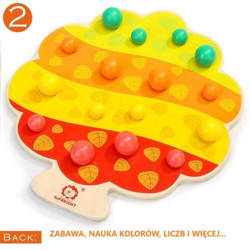 Top Bright gra drewniana Montessori - jabłuszka zdjęcie 11