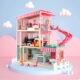 Top Bright duży drewniany domek dla lalek z basenem miniaturka 3
