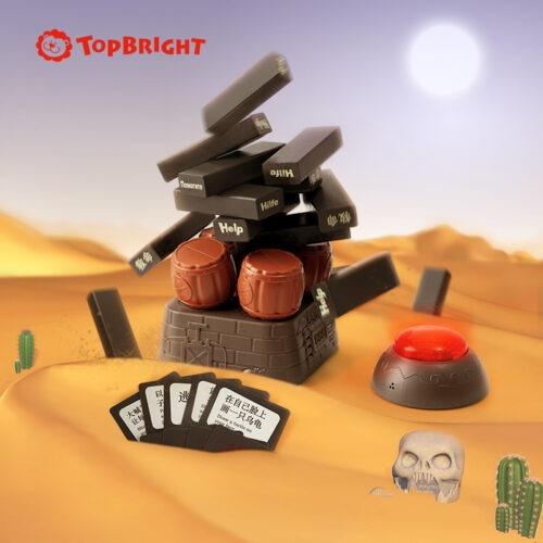 Top Bright drewniana gra - wybuchowa wieża Czarna zdjęcie 5