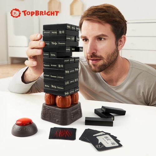 Top Bright drewniana gra - wybuchowa wieża Czarna zdjęcie 8