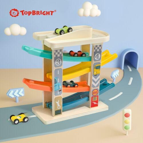Top Bright drewniany tor samochodowy -  4 rampy zdjęcie 18