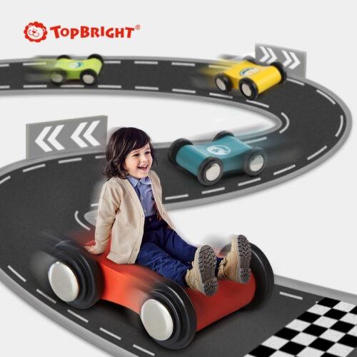 Top Bright drewniany tor samochodowy -  4 rampy zdjęcie 13