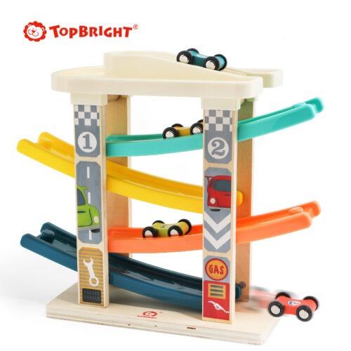 Top Bright drewniany tor samochodowy -  4 rampy zdjęcie 10