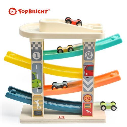 Top Bright drewniany tor samochodowy -  4 rampy zdjęcie 9