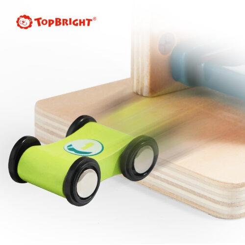 Top Bright drewniany tor samochodowy -  4 rampy zdjęcie 8