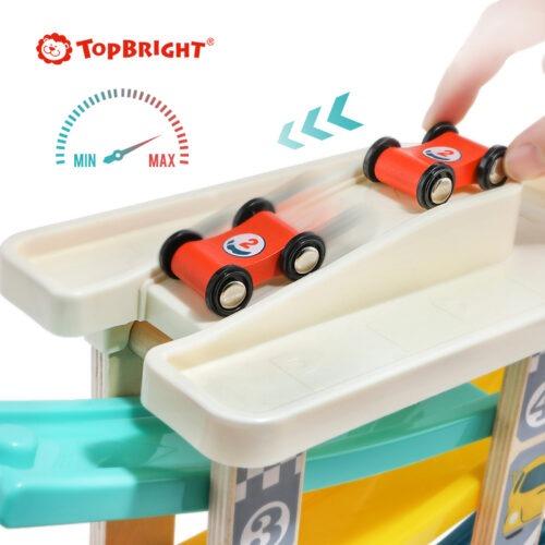 Top Bright drewniany tor samochodowy -  4 rampy zdjęcie 7