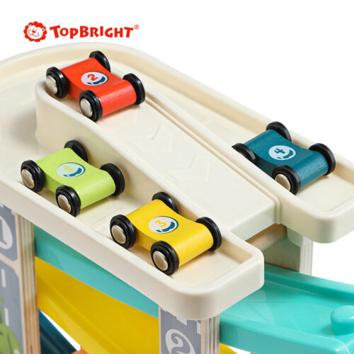 Top Bright drewniany tor samochodowy -  4 rampy zdjęcie 6