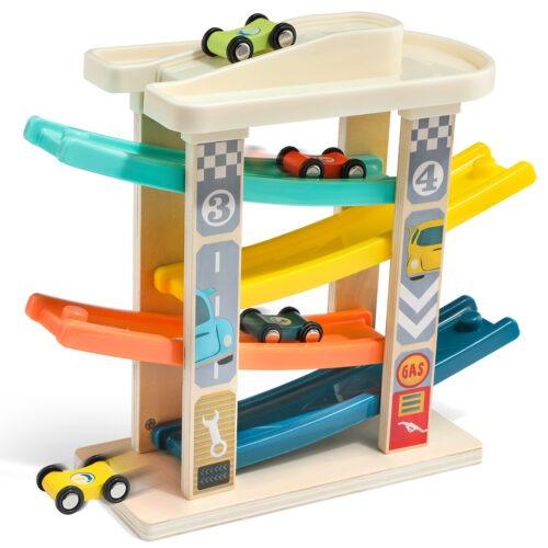 Top Bright drewniany tor samochodowy -  4 rampy zdjęcie 5