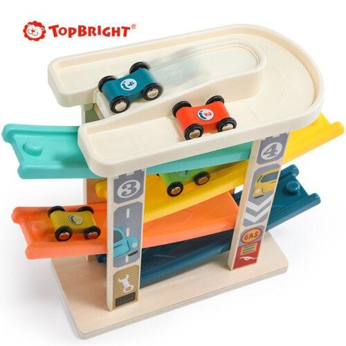 Top Bright drewniany tor samochodowy -  4 rampy zdjęcie 4