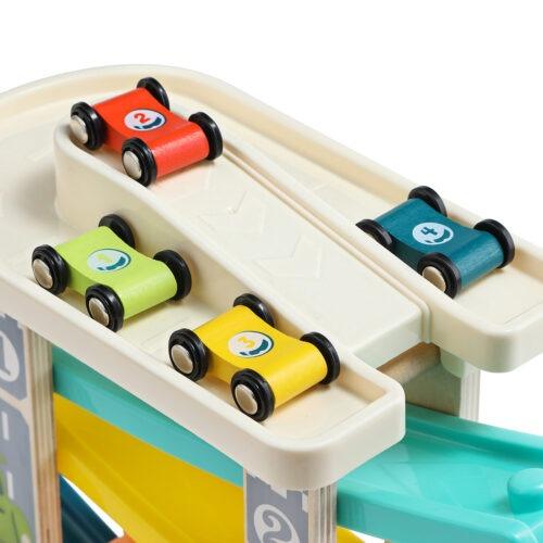 Top Bright drewniany tor samochodowy -  4 rampy zdjęcie 23