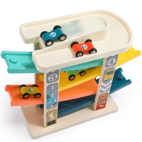 Top Bright drewniany tor samochodowy -  4 rampy zdjęcie 21