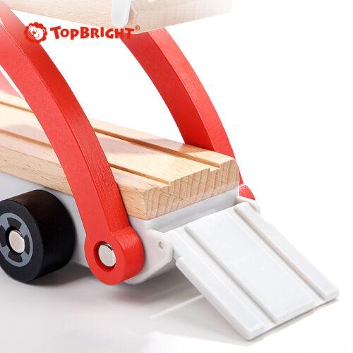 Top Bright drewniana laweta z 4 autkami zdjęcie 12