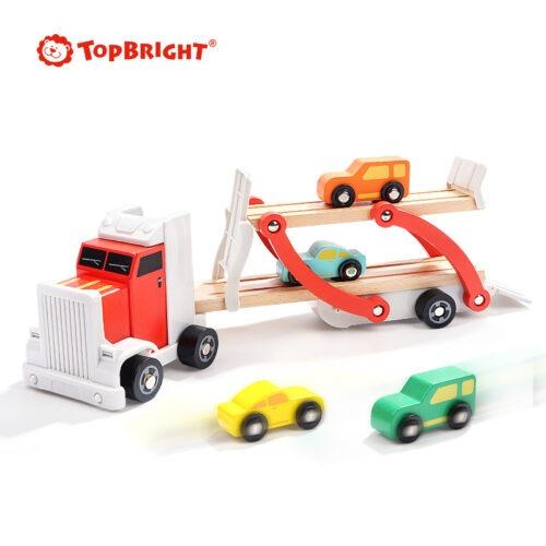 Top Bright drewniana laweta z 4 autkami zdjęcie 2