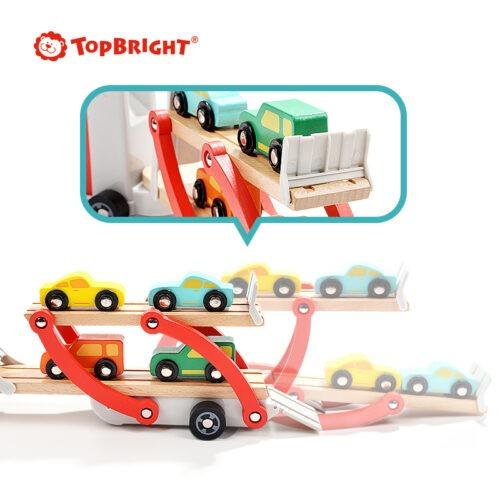 Top Bright drewniana laweta z 4 autkami zdjęcie 11